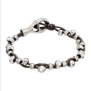 Uno De 50 Balley Beaded Cluster Leather Bracelet